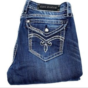 Rock Revival Luna Easy Boot Women Jeans, Size 32
